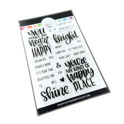 Shine Bright Sentiments, Catherine Pooler Clear Stamps -