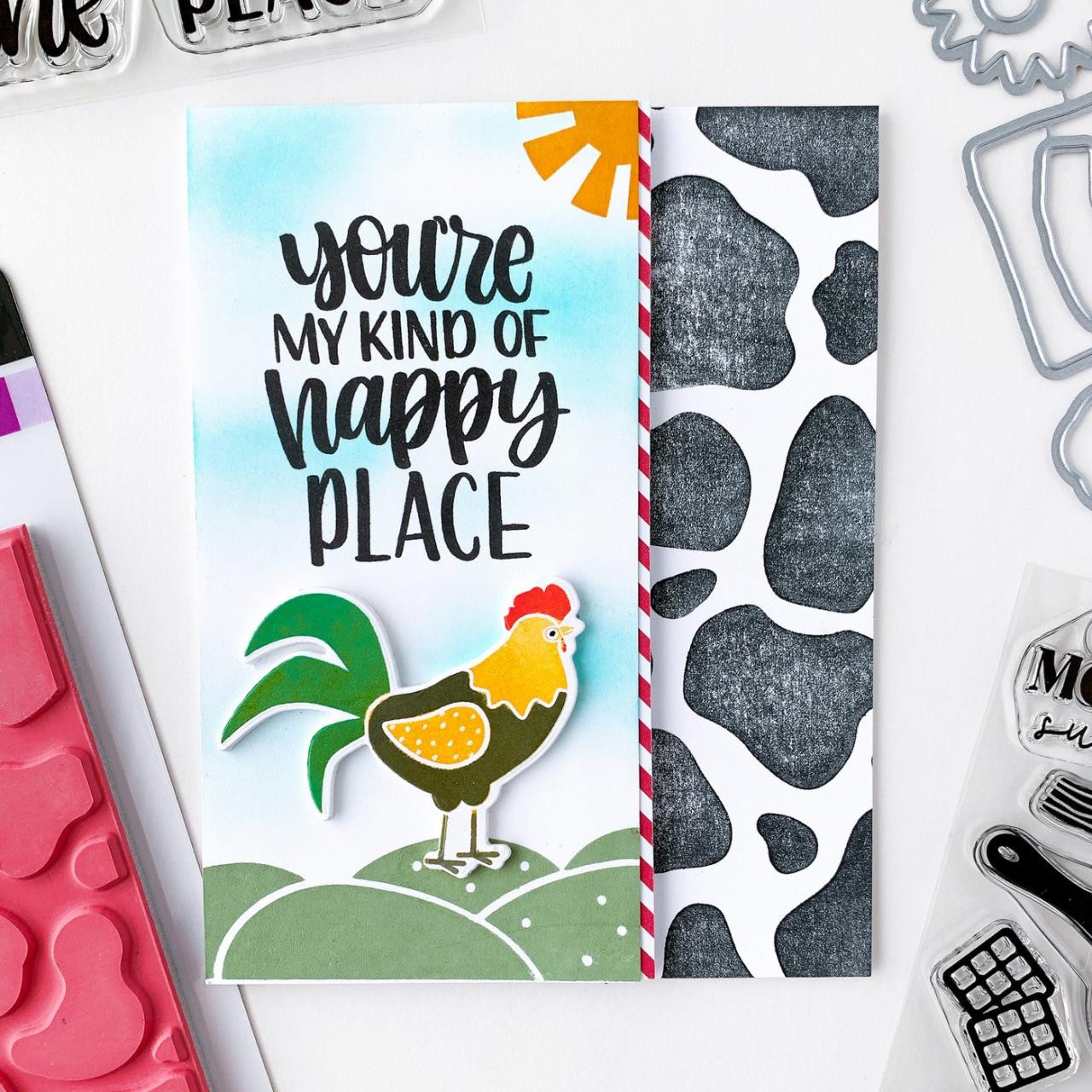 Moo-velous Background, Catherine Pooler Cling Stamps -
