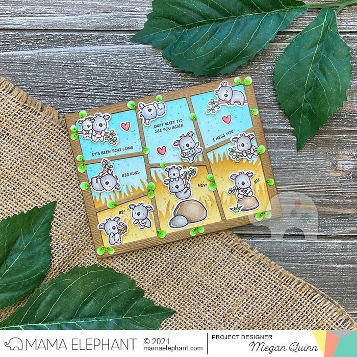 Comic Cover Wonky, Mama Elephant Creative Cuts -