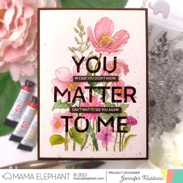 You Matter to Me, Mama Elephant Clear Stamps -