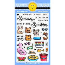 Beach Buddies, Sunny Studio Clear Stamps -