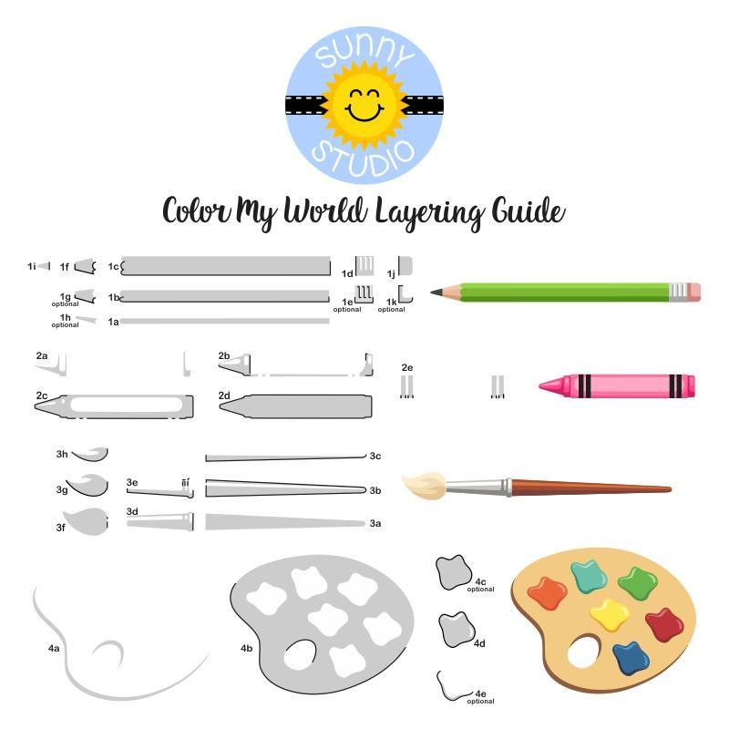 Color My World, Sunny Studio Clear Stamps -
