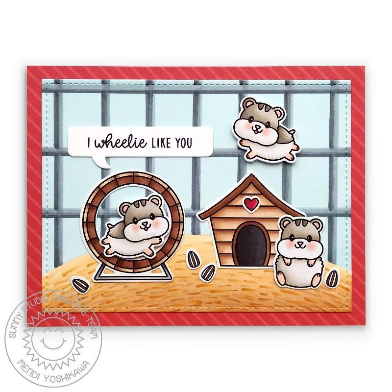 Happy Hamsters, Sunny Studio Clear Stamps -