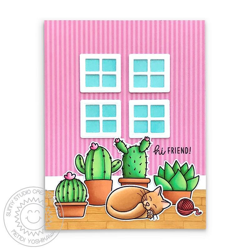 Looking Sharp, Sunny Studio Clear Stamps -