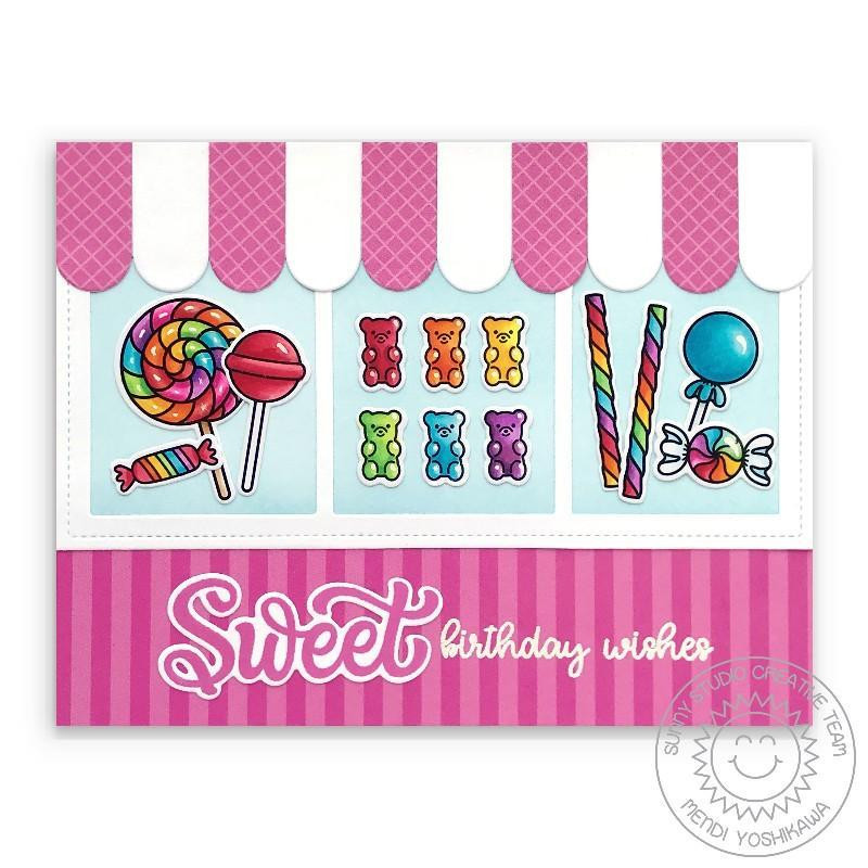 Candy Shoppe, Sunny Studio Clear Stamps -