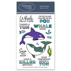 Orcas, Technique Tuesday Clear Stamps -