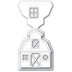 Country Barn Pop Up Easel, Poppystamps Dies -