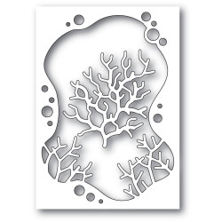 Bubble Coral Collage, Memory Box Dies -