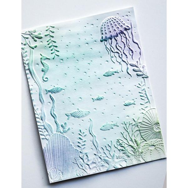 Underwater 3D, Memory Box Embossing Folders -