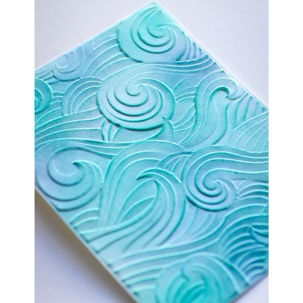 Waves 3D, Memory Box Embossing Folders -