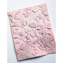 Blooming Sweet Pea 3D, Memory Box Embossing Folders -