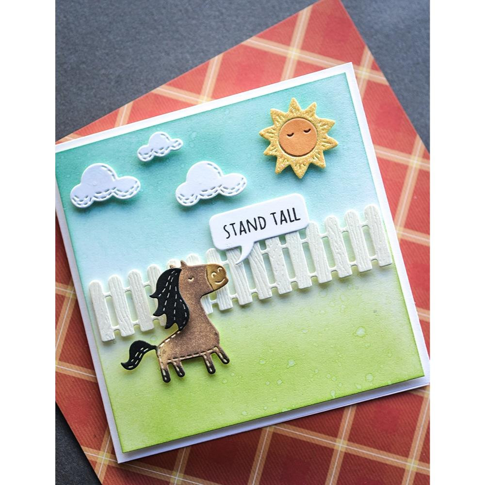 Woodgrain - White, Memory Box Cardstock -