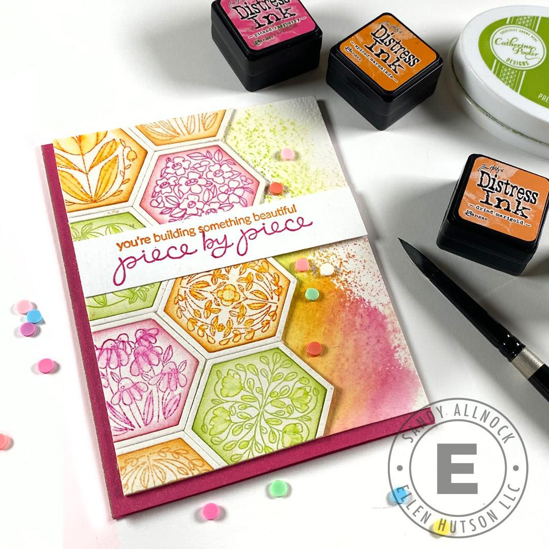 Pieced Together by Brandi Kincaid, Essentials By Ellen Clear Stamps -
