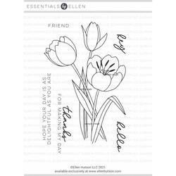 Mondo Tulip by Julie Ebersole, Essentials By Ellen Clear Stamps -