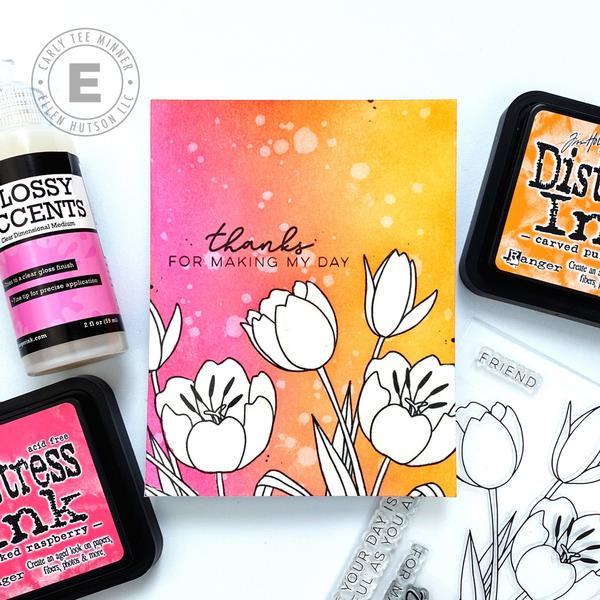 Mondo Tulip by Julie Ebersole, Essentials By Ellen Clear Stamps -