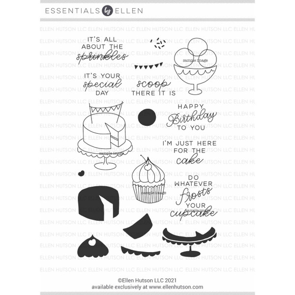Cake by Julie Ebersole, Essentials By Ellen Clear Stamps -
