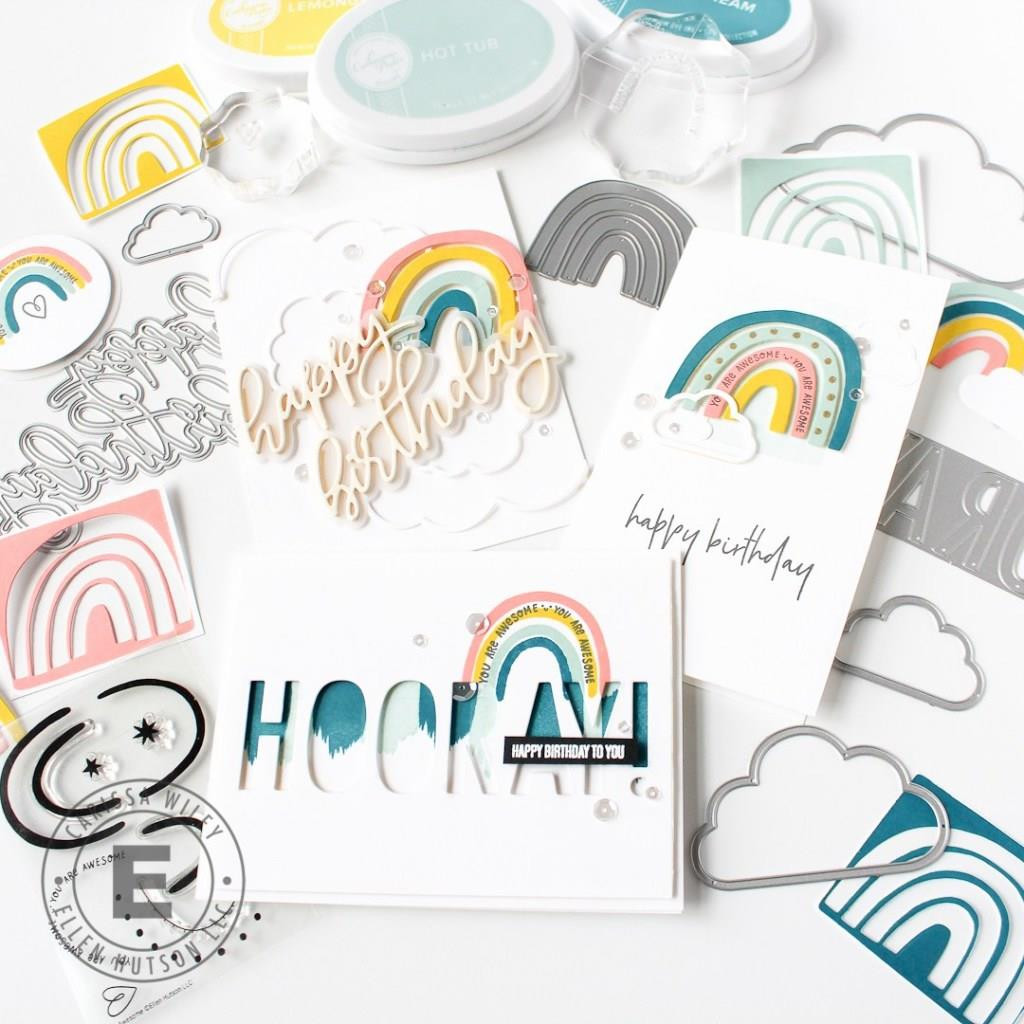 You Are Awesome by Heather Meeson, Essentials by Ellen Clear Stamps -