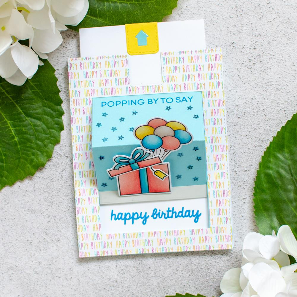Popping By, Heffy Doodle Clear Stamps -