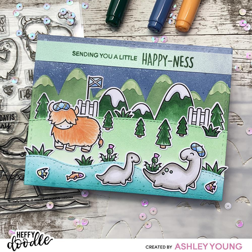 Marvellous Mountains, Heffy Doodle Stencils -