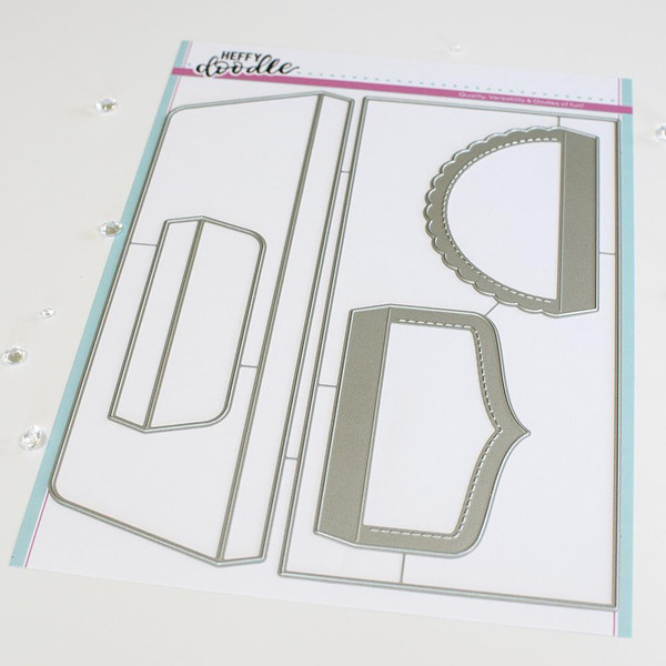 Slimline Envelope #10, Heffy Doodle Dies -