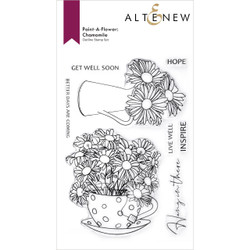Paint-a-Flower: Chamomile Outline, Altenew Clear Stamps -