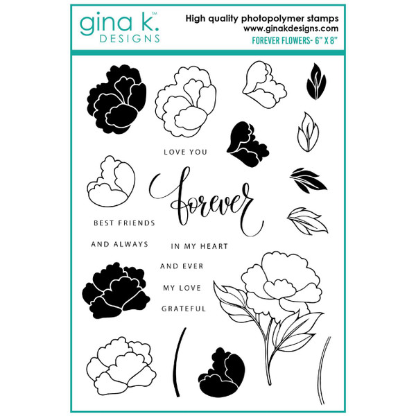 Forever Flowers, Gina K Designs Clear Stamps -