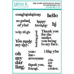 Go To Greetings, Gina K Designs Clear Stamps -