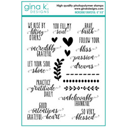 Incredibly Grateful, Gina K Designs Clear Stamps -