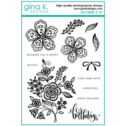 Lace Flowers, Gina K Designs Clear Stamps -