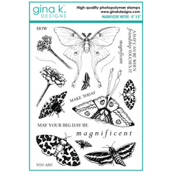 Magnificent Moths, Gina K Designs Clear Stamps -