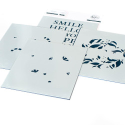 Reason to Smile Wreath, Pinkfresh Studio Stencils -