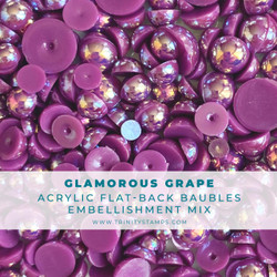 Glamorous Grape Baubles, Trinity Stamps Embellishments -
