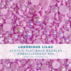 Luxurious Lilac Baubles, Trinity Stamps Embellishments -