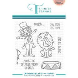Greatest Friend on Earth, Trinity Stamps Clear Stamps -