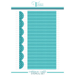 Curtain Call Layering, Trinity Stamps Stencil -