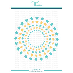 Superstar Layering, Trinity Stamps Stencil -
