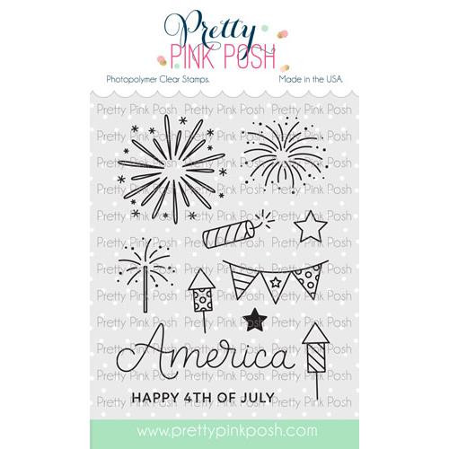 4th Of July, Pretty Pink Posh Clear Stamps -