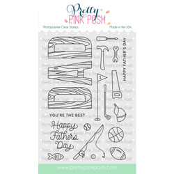 Dad, Pretty Pink Posh Clear Stamps -