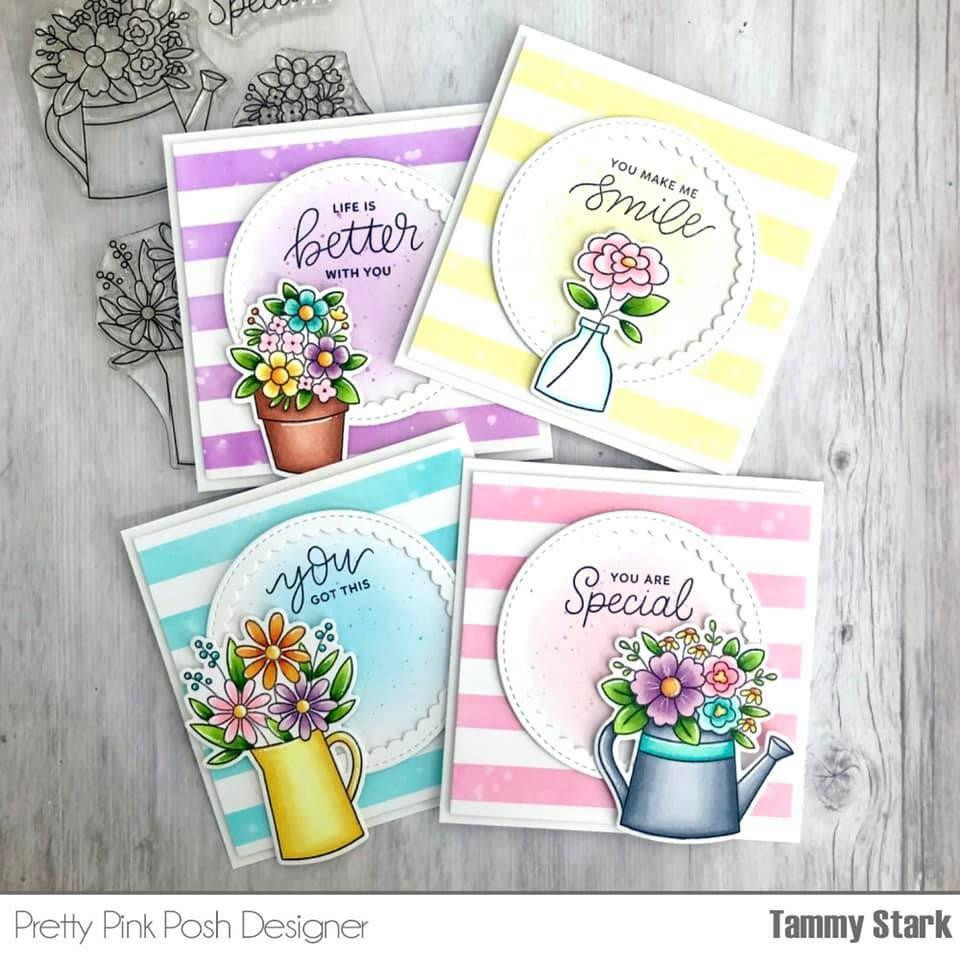 Flower Bouquets, Pretty Pink Posh Clear Stamps -