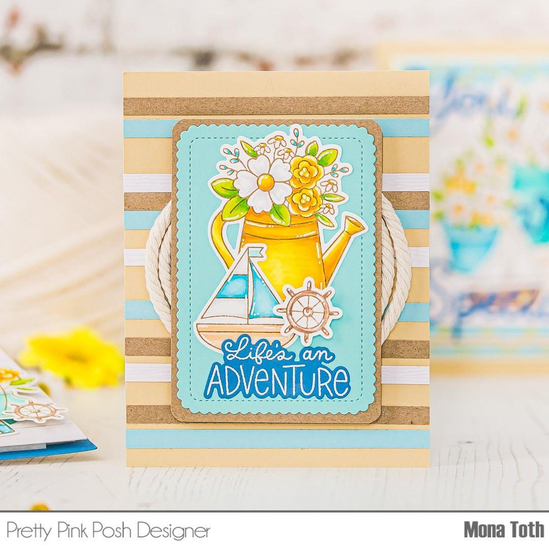 Nautical, Pretty Pink Posh Clear Stamps -