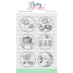Spring Circles, Pretty Pink Posh Clear Stamps -