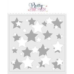 Layered Stars - 2 pack, Pretty Pink Posh Stencils -