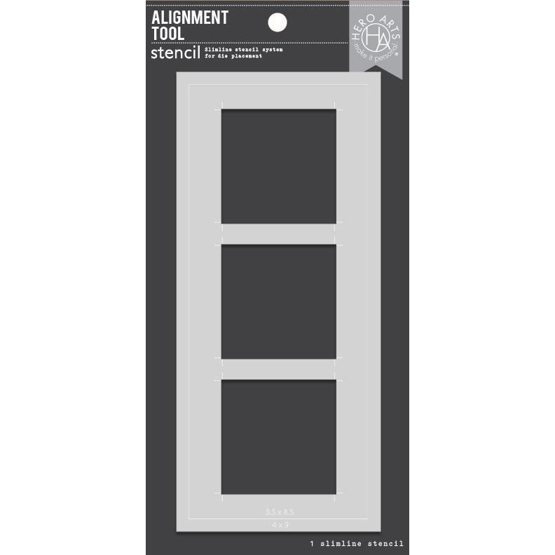Alignment Tool Slimline, Hero Arts Stencils -