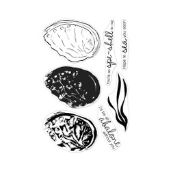 Color Layering Abalone, Hero Arts Clear Stamps -
