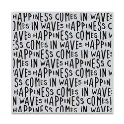 Happiness Waves Bold Prints, Hero Arts Cling Stamps -