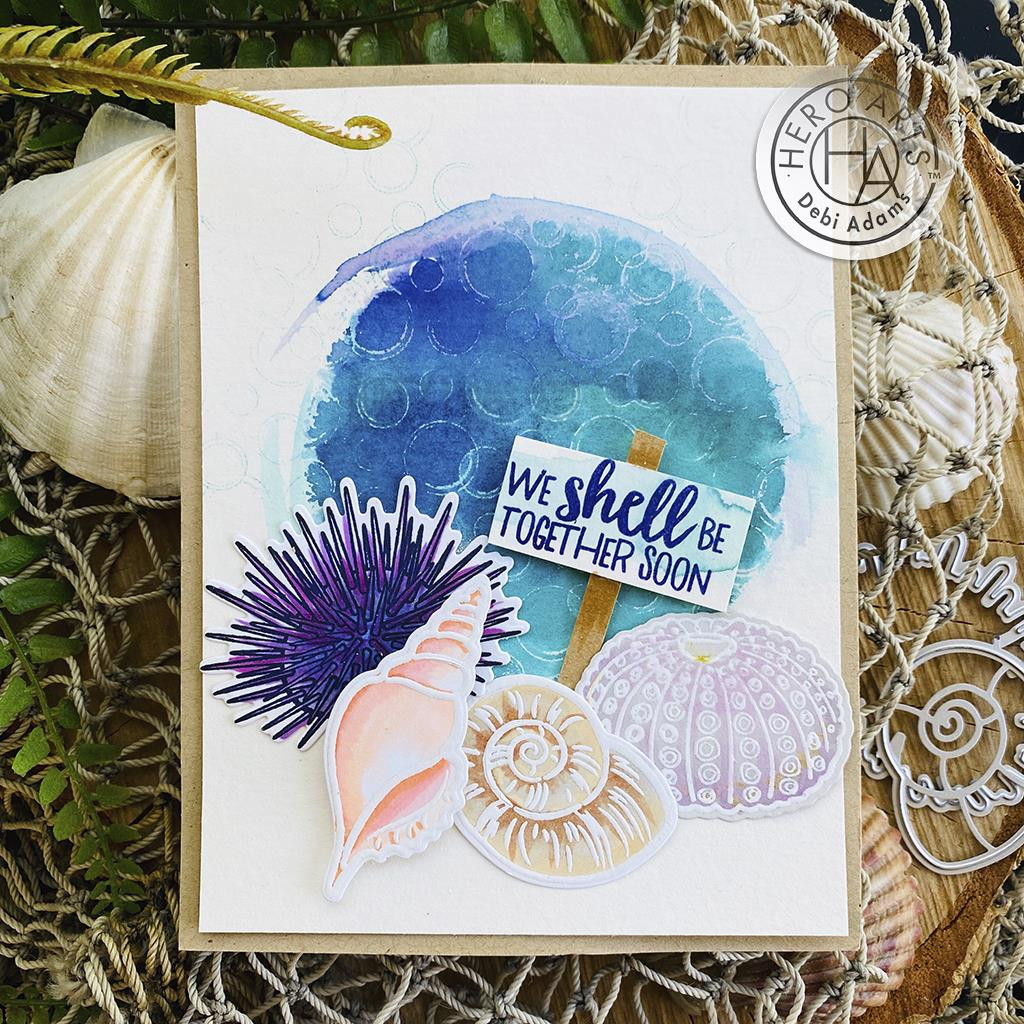 Inverse Bubbles Bold Prints, Hero Arts Cling Stamps -