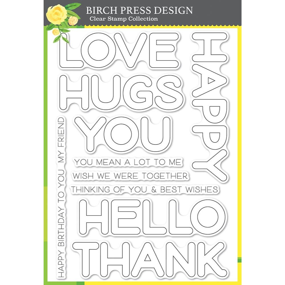 Happy Lingo, Birch Press Design Clear Stamps -