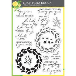 Classic Sentimental Wreath, Birch Press Design Clear Stamps -