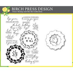 Classic Sentimental Wreath, Birch Press Design Stamp & Die Set -