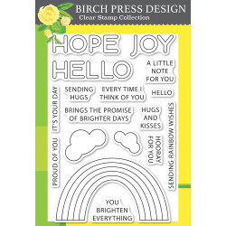 Rainbow Days Lingo Notes, Birch Press Design Clear Stamps -